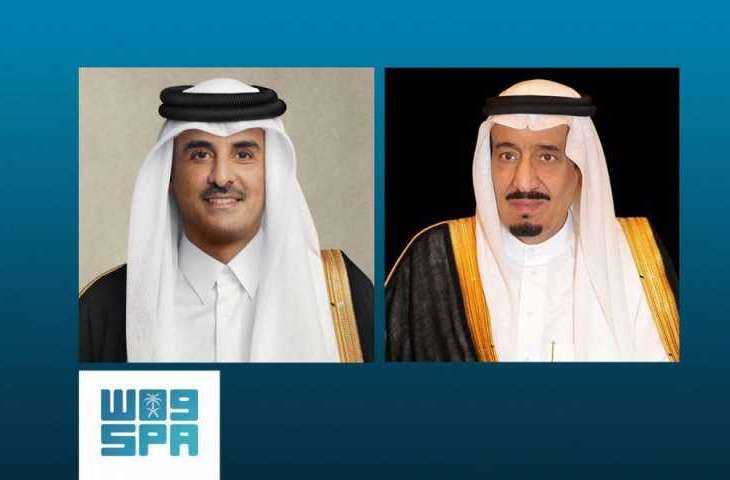 القيادة القطرية تهنئ خادم الحرمين الشريفين بمناسبة نجاح العملية التي أجراها سمو ولي العهد