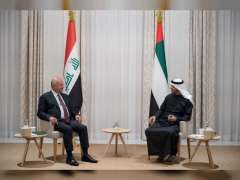 Mohamed bin Zayed, President of Iraq review regional developments