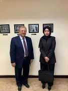 السفير المعلمي يلتقي مندوبة دولة قطر لدى الأمم المتحدة