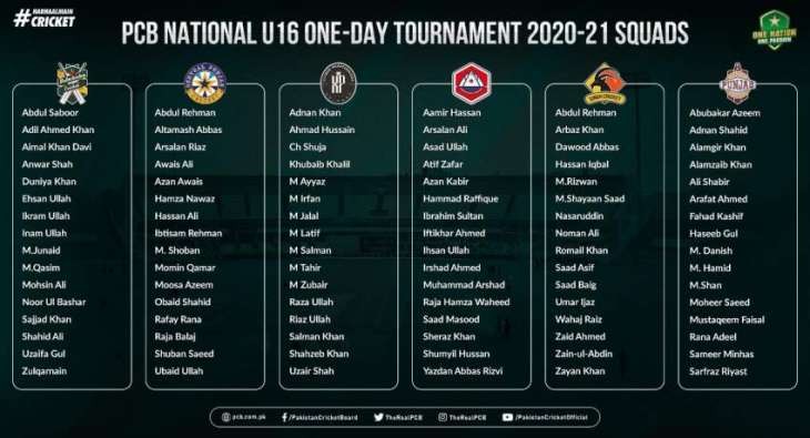 PCB U16 National One-Day Tournament details announced