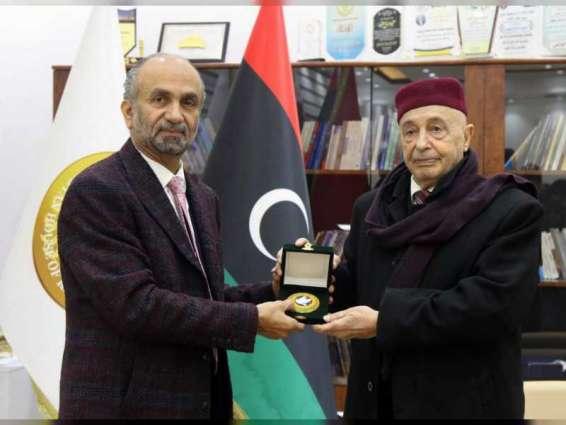 """مذكرة تفاهم بين مجلس النواب الليبي و""""البرلمان الدولي للتسامح """" للتعاون في نشر قيم التسامح والسلام"""