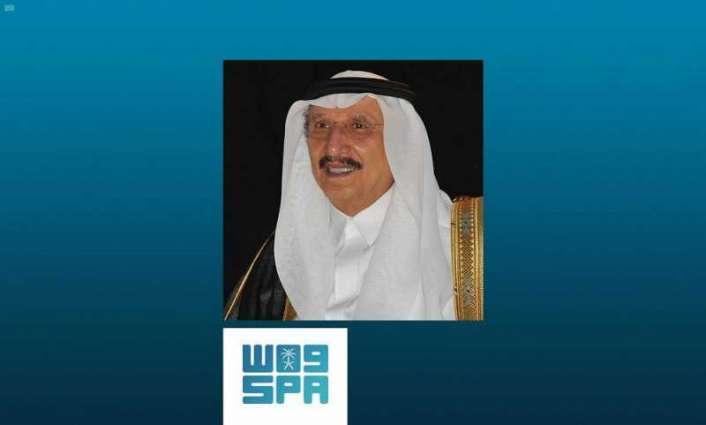 سمو أمير منطقة جازان يطمئن على صحة شيخ شمل قبائل آل خالد