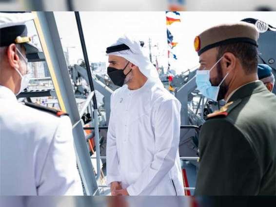 Khaled bin Mohamed bin Zayed launches vessel Shujaa at NAVDEX