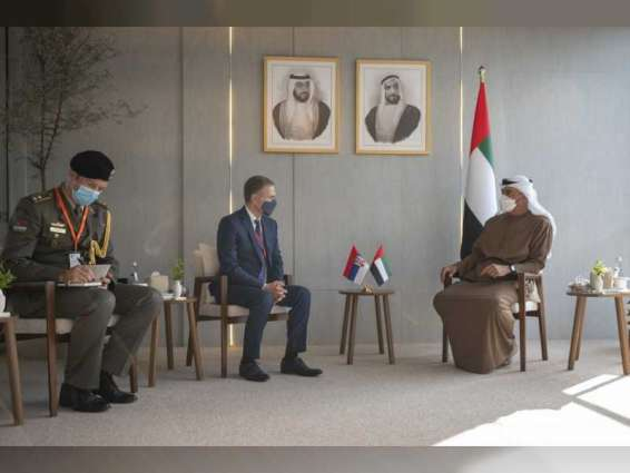 Mohamed bin Zayed receives Serbian, Cypriot defence ministers