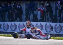 Emirati karting star Rashid Al Dhaheri receives checkered flag once more in WSK Super Master Series