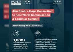 Abu Dhabi's HOPE Consortium announces speakers at World Immunisation & Logistics Summit