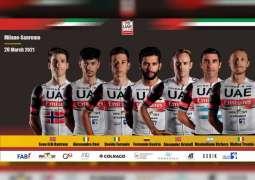 UAE Team Emirates line-up for Milan-San Remo