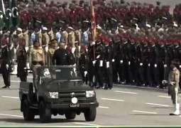 Pakistan Day military parade is underway in Islamabad
