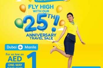 Cebu Pacific kicks off 25th anniversary with AED 1 Dubai-Manila seat sale