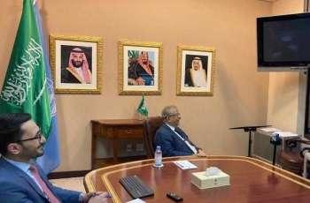 السفير المعلمي يلتقي بمندوب جمهورية غينيا لدى الأمم المتحدة