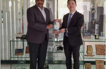 President Huawei Middle East Region Charles Yang calls on PTA Chairman Major General (Retd) Amir Azeem Bajwa