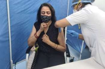 Hema Malini receives COVID-19 vaccine