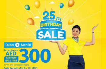Cebu Pacific's 3rd seat sale this month: AED300 Dubai-Manila flights
