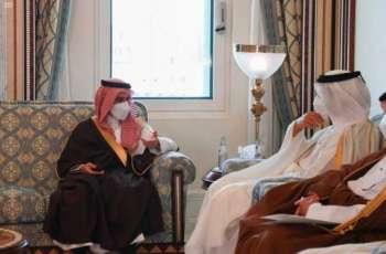 سمو وزير الخارجية يعقد جلسة مباحثات رسمية مع نائب رئيس مجلس الوزراء وزير خارجية دولة قطر