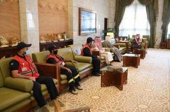 سمو أمير الرياض يطلع على تقرير فرع هيئة الهلال الأحمر بالمنطقة عن مواجهة جائحة كورونا والتقرير السنوي