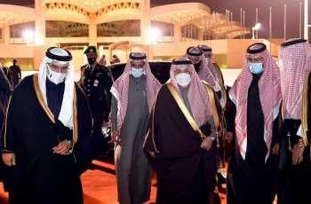 سمو ولي عهد مملكة البحرين يغادر الرياض