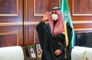 سمو نائب أمير منطقة حائل يستقبل مدير إدارة الاستخبارات العامة بالمنطقة