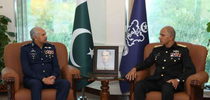 Chief Of Air Staff Farewell Calls On Chief Of The Naval Staff At Naval Headquarters