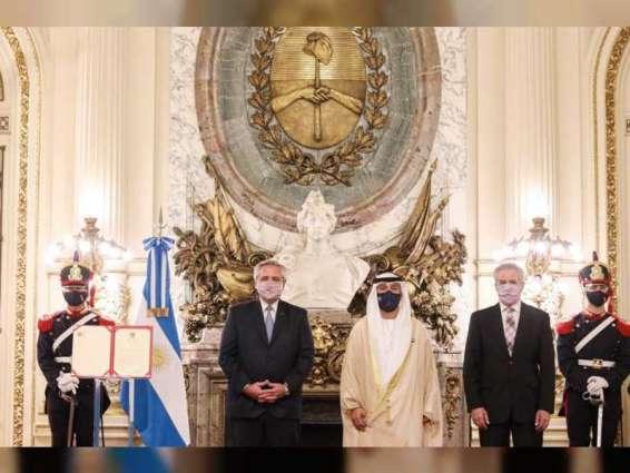 President of Argentina receives credentials of UAE Ambassador