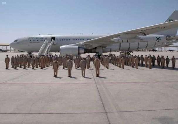 وصول مجموعة القوات الجوية الملكية السعودية المشاركة في مناورات تمرين (علم الصحراء 2021 ) بدولة الإمارات