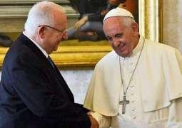 Israeli President Rivlin Sends Easter Greetings to Pope Francis