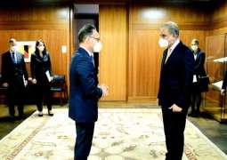 FM Qureshi arrives in Berlin on two-day official visit