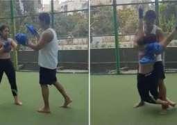 Ira Khan takes Kickboxing lessons from her boyfriend Nurpur Shikhare