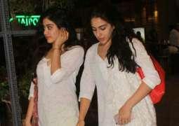 Sara Ali Khan, Janhvi Kapoor determined to get golden glow