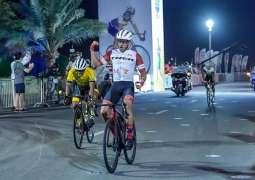 Rashid Al Balooshi wins NAS Cycling Championship race for Amateur UAE Men, Khalid Al Thani finishes second