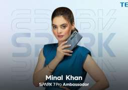 Youth icon Minal Khan announced ambassador for the TECNO's new Gaming King,Spark 7 Pro