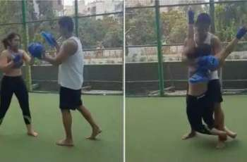 Ira Khan takes Kickboxing lessons from her boyfriend Nurpur Shikhare