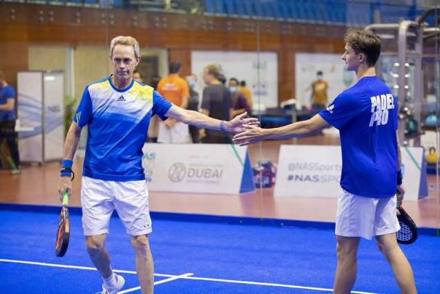 NAS Sports Tournament opens with exciting padel duels in Nad Al Sheba Sports Complex