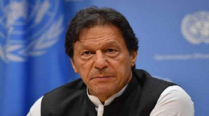 رئیس الوزراء عمران خان یطالب الحکومات الغربیة بتجریم اھانة النبی