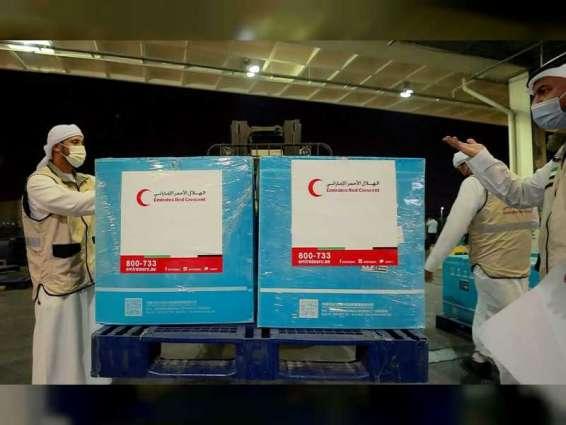 """طائرة ثالثة من الهلال الأحمر الإماراتي على متنها كميات كبيرة من لقاحات """"كورونا"""" تصل دمشق"""