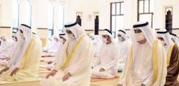 Umm Al Qaiwain Ruler performs Eid al-Fitr prayer