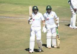 Pakistan crosses 500 scores with Abid's double century against Zimbabwe