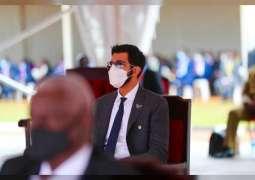 شخبوط بن نهيان يشهد مراسم تنصيب الرئيس الأوغندي في كمبالا