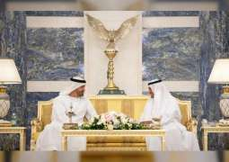 Mohamed bin Zayed exchanges greetings with Fujairah Ruler on Eid al-Fitr
