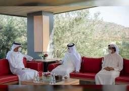 Mohamed bin Zayed exchanges Eid greetings with RAK Ruler