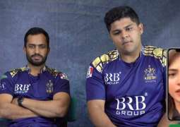 Cricketers play 'Guess the celebrity Game'