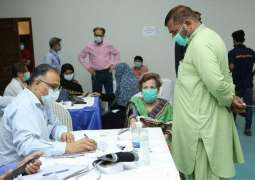 In the last two months more than 15000 people have been vaccinated at the Arts Council's vaccination center jointly established by the Sindh Health Department