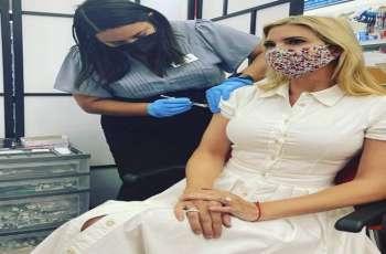 ابنة الرئیس الأمریکي السابق دونالد ترامب تتلقی لقاح من فیروس کورونا