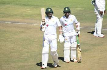 Pakistan crosses 500 scores with Abid's double century against Zimbabwe