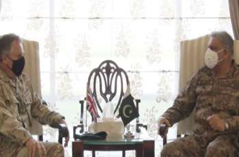 UK military chief calls on Army Chief Bajwa, discuss Afghan peace process