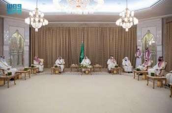 سمو أمير منطقة مكة المكرمة يستقبل أصحاب الفضيلة العلماء وأئمة وخطباء المسجد الحرام