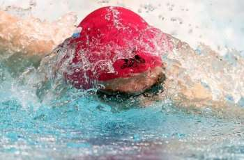 Russia's Kolesnikov Sets World Record in 50 Meters Backstroke Swimming at 23.93 Seconds