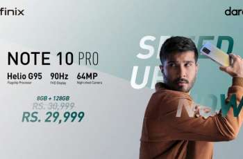 Infinix NOTE10 Pro launched with Flagship MediaTek Helio G95 and 90Hz display