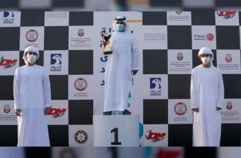 ياس وراشد بن حمدان بن زايد يتوجان الفائزين في بطولة الظفرة الكبرى لصيد الكنعد للرجال والنساء