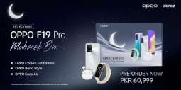Moonlight Inspired Crystal Silver OPPO F19 Pro now available in Mubarak Box on Daraz