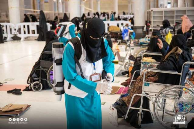 Female workers deployed at Holy Ka'aba to perform their duties